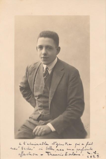 Photo card of Francis Poulenc, 1923