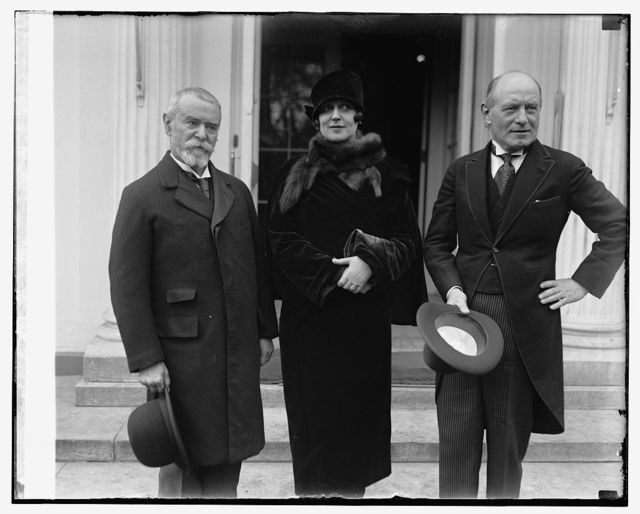Aml. Jusserand, Mrs. James K. Hackett, M. Teirman Gemier