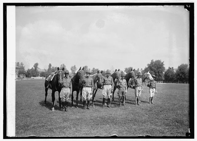Annual endurance test, Fort Riley and Fort Myer cavalry, [9/24/24]