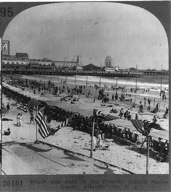 Beach and Surf of the Famous United States Resort, Atlantic City, N.J.