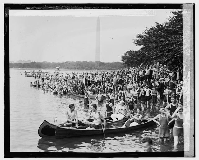 Canoe Regatta and Water Carnival, Tidal Basin, [8/4/24]