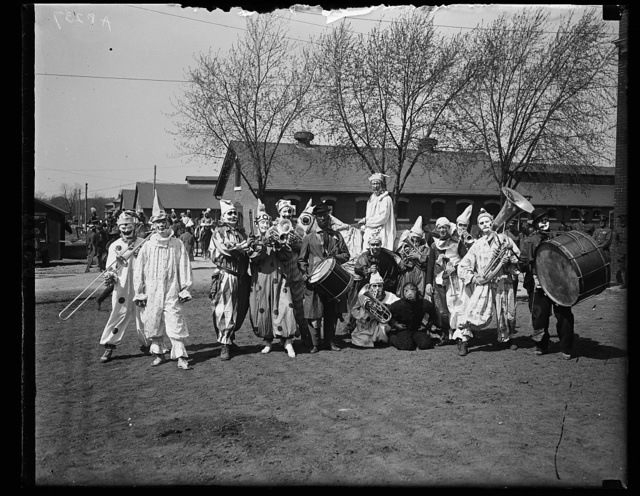 Clown band at Society Circus, Ft. Myer, Va. April 23