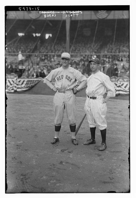 [George H. Burns, Boston AL & Everett Scott, New York AL (baseball)]