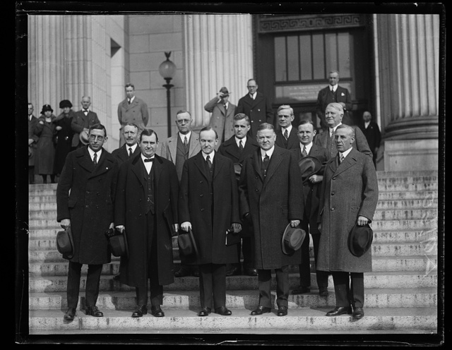 [Group; includes Calvin Coolidge and Herbert Hoover]
