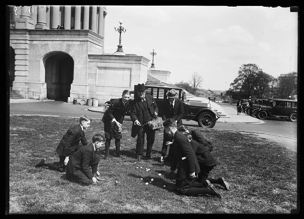 [Group playing outside U.S. Capitol, Washington, D.C.]