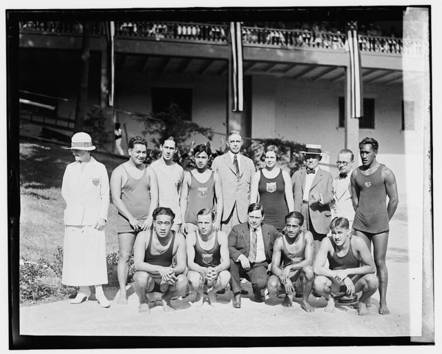 Hawaiian swimming team at Wardman Park Pool