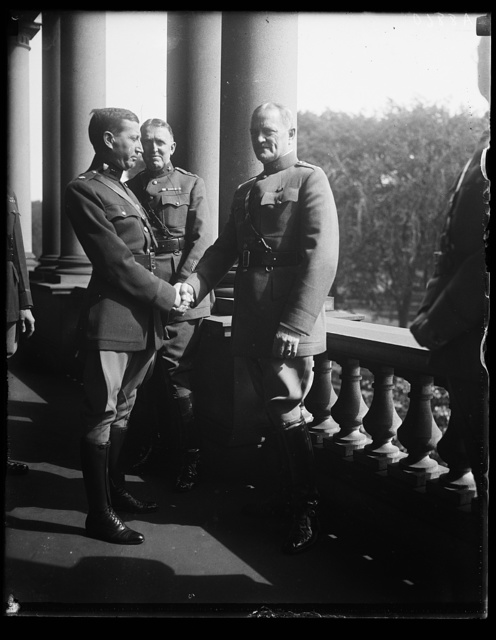 [John J. Pershing, right]