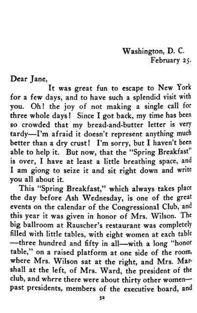 Letters from a senator's wife,