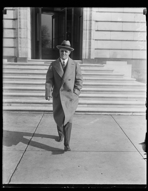 [Man at Congressional Office Building, Washington, D.C.]