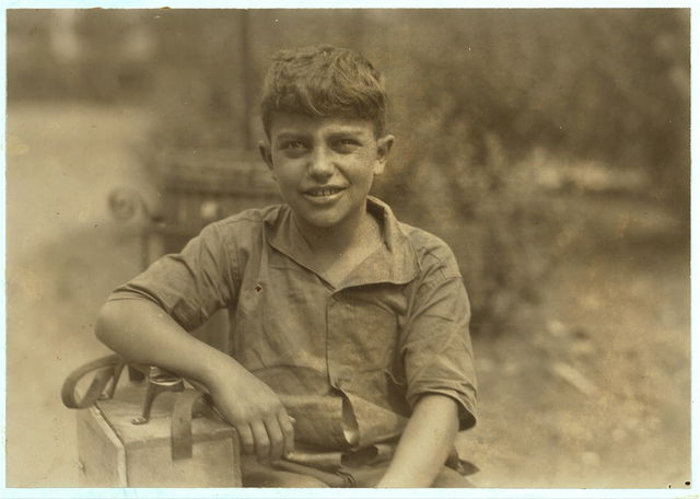 Mike, ten year old shiner, Newark, N.J. August 1, 1924.  Location: Newark, New Jersey.