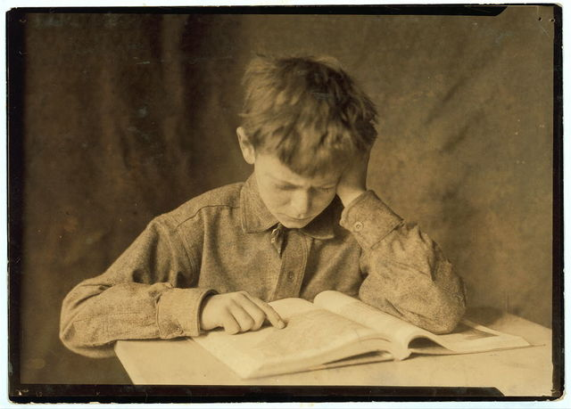 Miscellaneous. Boy studying
