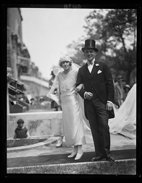 Mr. and Mrs. [...] Carter after being married at St. Matthews Church in Wash., May 17. Mrs. Carter is daught. of Mrs. and Mr. Warwick Emile Montgomery and a neice of late Chief Justice White