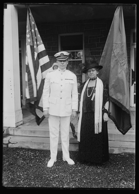 Mrs. Walter J. McCoy, Pres. of the McCoy Unit, Amer. Women's Legion and Col. Dunlop P. Penhallow, Commanding Officer of Mt. Alton Hospital, at the 4th Annual garden party tendered the wounded veterans by the Unit