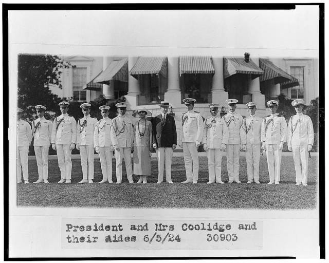President and Mrs. Coolidge and their aides
