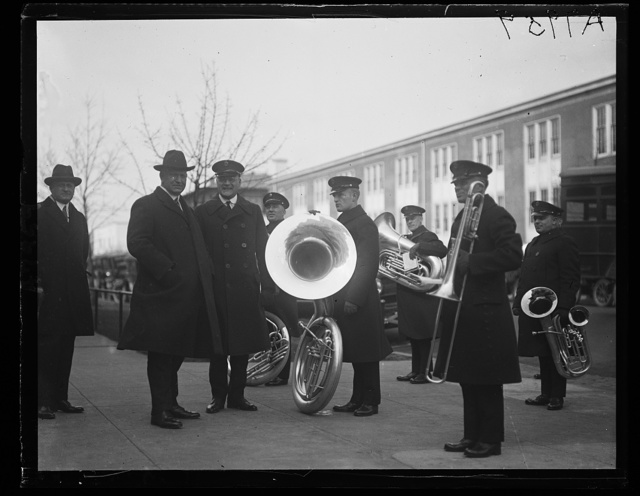 Secy. of the Navy Edwin Denby was serenaded today by the Navy Band as a final farewell March 10th