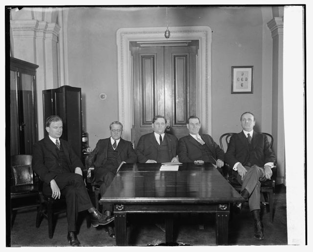 [Sen. Smith W. Brookhart and group at table, 3/3/24]