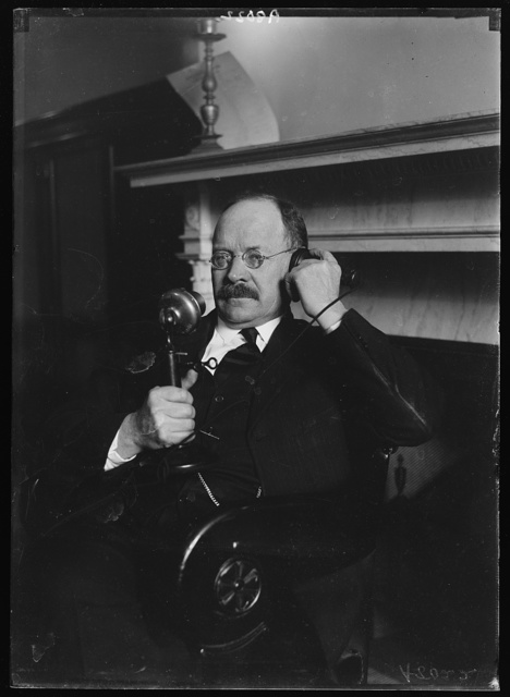 Senator Magnus Johnson at telephone