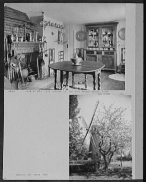 Seventy-one years, or, My life with photography. Kitchen of the John Howard Payne house, June 24, 1924; Windmill and apple tree, May 23, 1924