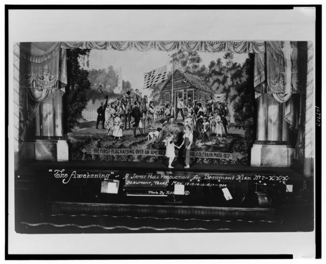 """""""The Awakening"""" - A James H. Hull production for Beaumont Klan No. 7 - KKK, Beaumont, Texas, May 12, 13, 14, 15, 16, 17, 1924 / photo by Reeves."""