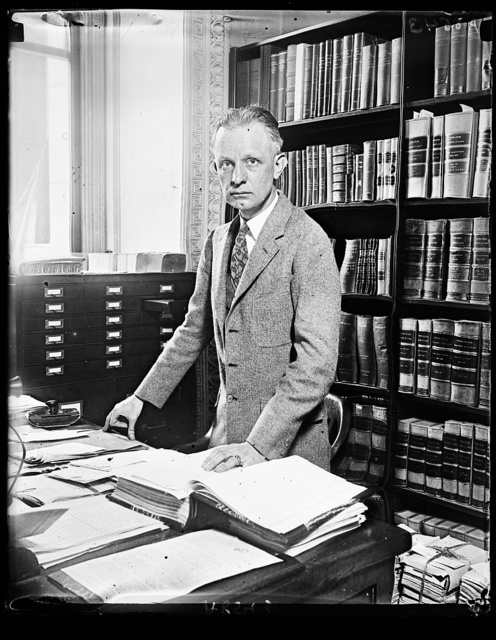 The man through whose hands passes every federal law. In his care are the orig. of the 53,601 federal laws. His name is F.D. Van Valin and his office is the State Dept. at Wash.
