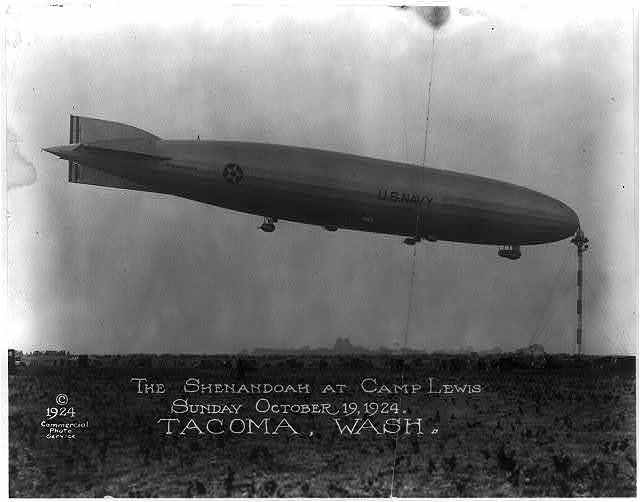 The Shenandoah at Camp Lewis, Sunday October 19, 1924. Tacoma, Wash