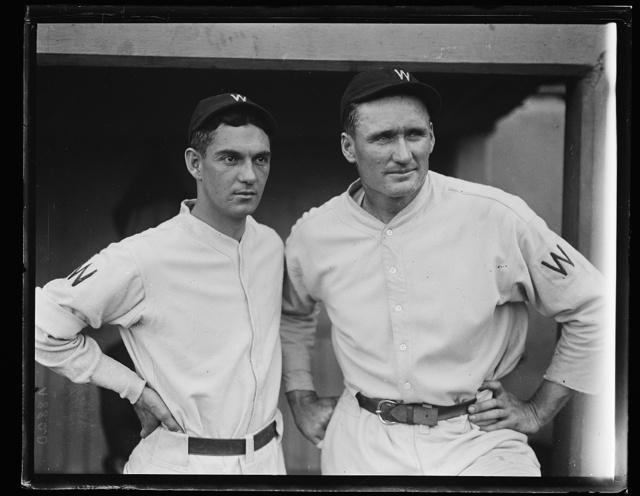 [Washington baseball; Walter Johnson, right]