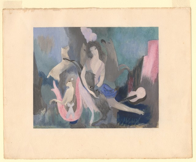 Marie Laurencin's color curtain design for Les Biches, 1924