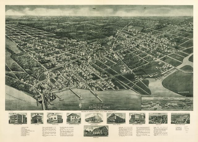 Aero-view of Somers-Point 1925, New Jersey.