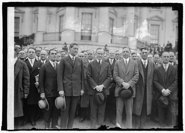 Ass'n. of American Electric Railway men with Coolidge, [2/17/25]