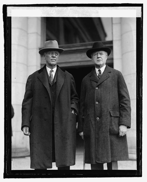Attny. Gen. J.G. Sargent and Rush Holland at Union Station, [3/18/25]