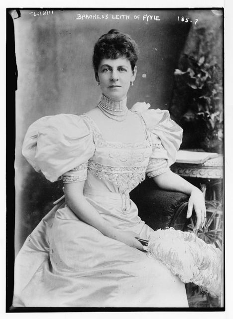 Baroness Leith of Fyvie, seated