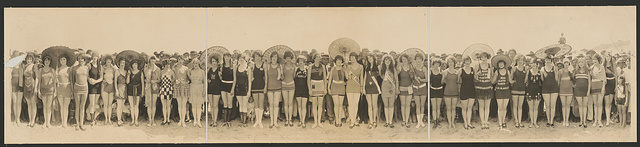 Bathing Beauty Pageant, 1925, Huntington Beach, Calif.