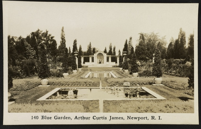 Blue Garden, Arthur Curtis James, Newport, R.I. / Photo by J. Rugen, 295 Thames St., Newport, R.I.