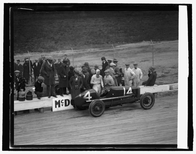 Bob McDonogh, winner of 250 mile auto race, [10/26/25]