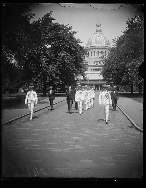 [Calvin Coolidge at U.S. Naval Academy, Annapolis, Maryland]