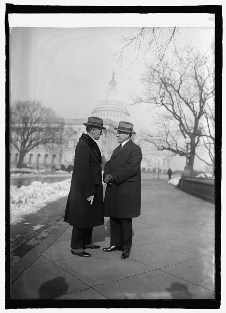 Capt. Herbert Hartley of S.S. Leviathan and Rep. Fred Britten at Capitol, [Washington, D.C., 1/7/25]