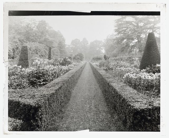 "[""Cliveden"" Viscount Waldorf Astor house, Taplow, Buckinghamshire, England. Long garden]"