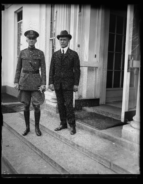 Col. Sherwood Cheney (left) with Sherrill, whom he will succeed as Senior Military [...] house