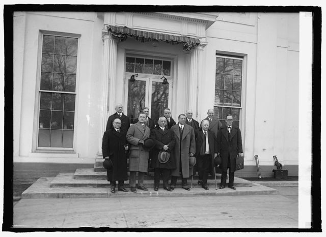 Committee from Atlantic States Shippers Regional Board at W.H. [i.e., White House, Washington, D.C., 1/21/25]