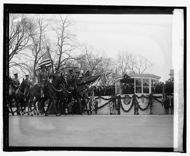Coolidge inaugural parade