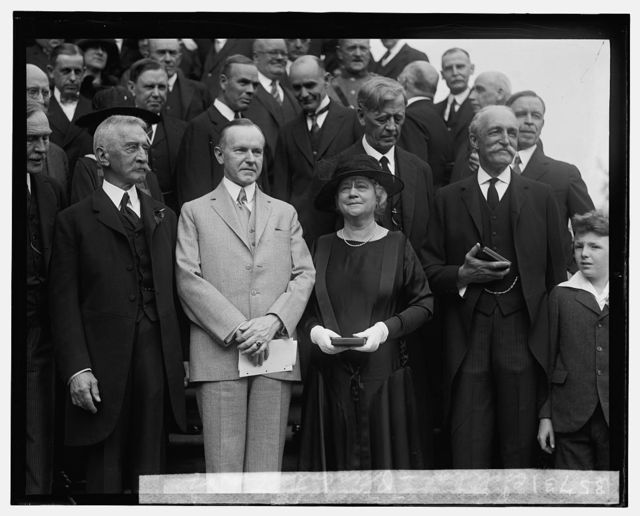 Coolidge, presentation of Roosevelt Medals, [5/15/25]