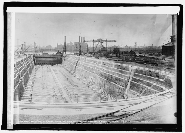 Drydock, New York Navy Yard, [12/30/25]
