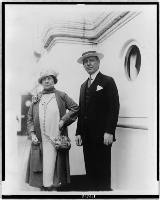 [Frank Hague and his wife, posed, standing, facing front]