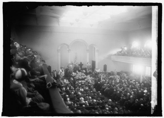 Funeral services of Wm. J. Bryan. New York Ave. Pres. Church, [Navy Yard, [Washington, D.C., 7/31/25]