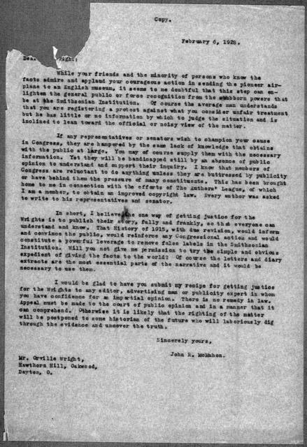 General Correspondence:  Loening, Grover C., 1925-1947, undated