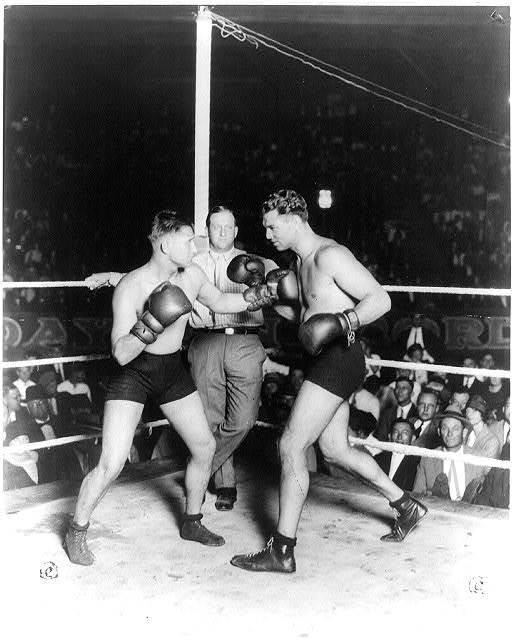 Gus Wilson, Jack Dempsey, Ray Newman, San Antonio, Tex., Sept. 25, 1925