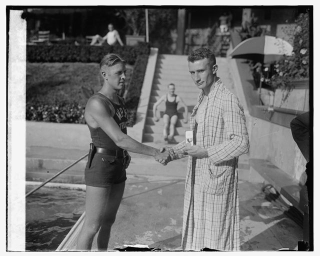 Jerry Managan & W.G. Farrell at Wardman Park Pool