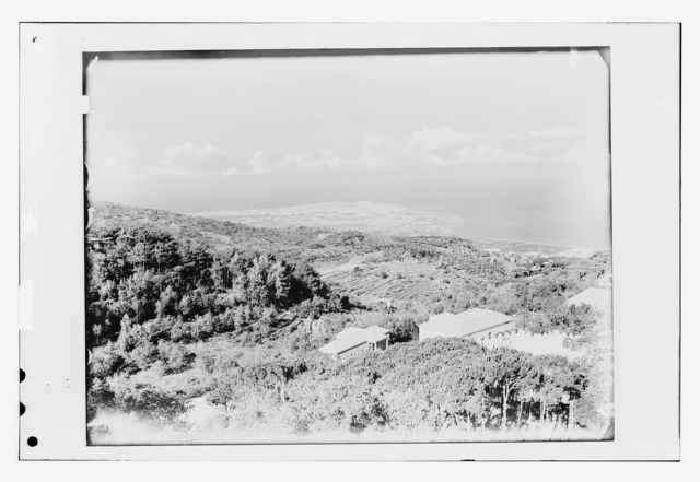 [Looking towards the Mediterranean from Broummana, panorama in three sections]