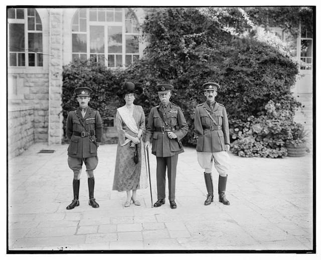 Lord & Lady Plumer, flanked by 2 officers