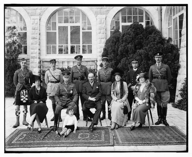 Lord & Lady Plumer w[ith] group including Fr. [i.e., French] diplomat